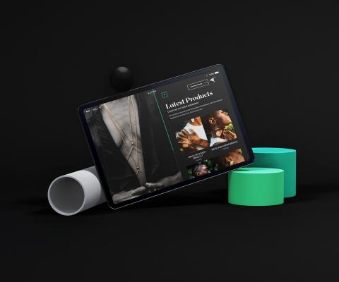 Landscape Tablet Device Scene Presentation Mockup